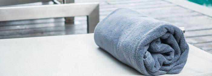 Pool towel on bed pool