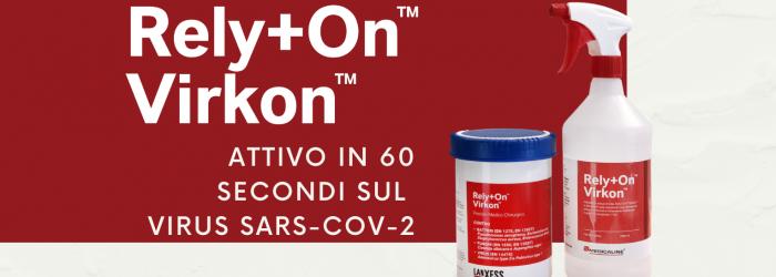 Rely+On Virkon scientificamente testato sul virus SARS-CoV-2